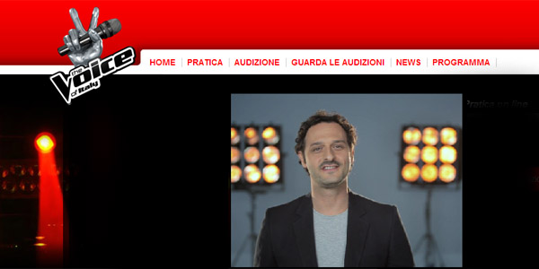 the voice of italy casting online