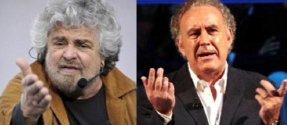 Beppe Grillo attacca Santoro per Servizio pubblico