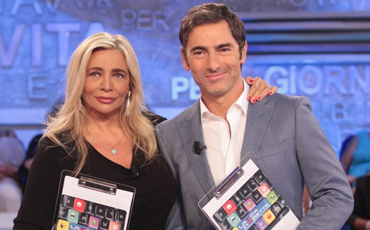 Marco Liorni e Mara Venier la vita in diretta