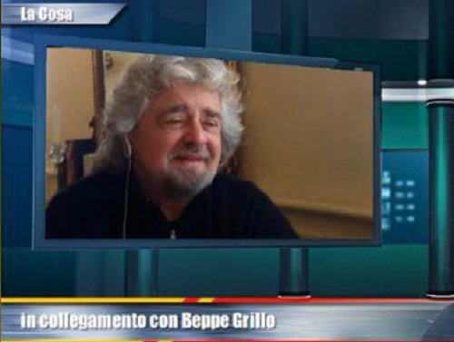 Beppe Grillo attacca Rai e Mediaset dal suo blog