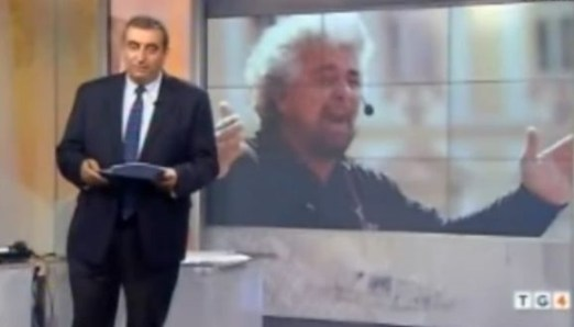 Beppe Grillo contro i giornalisti: Tg4 replica al sondaggio