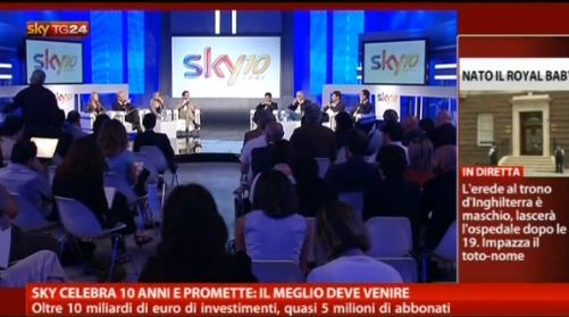 Compleanno per Sky Italia