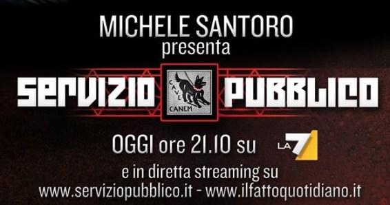 Servizio Pubblico, Michele Santoro torna su La7: nella prima puntata l'intervista a Sergio De Gregorio