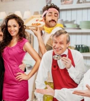 Il cast de La cena dei cretini