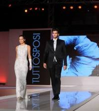 Andrea Offredi e Claudia D'Agostino sfilano insieme da sposi
