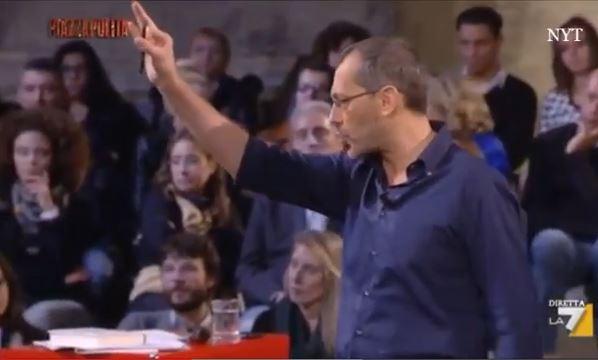 Alemanno contro Formigli, scintille in diretta