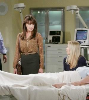 Katie in ospedale con Brooke, Bill e Taylor
