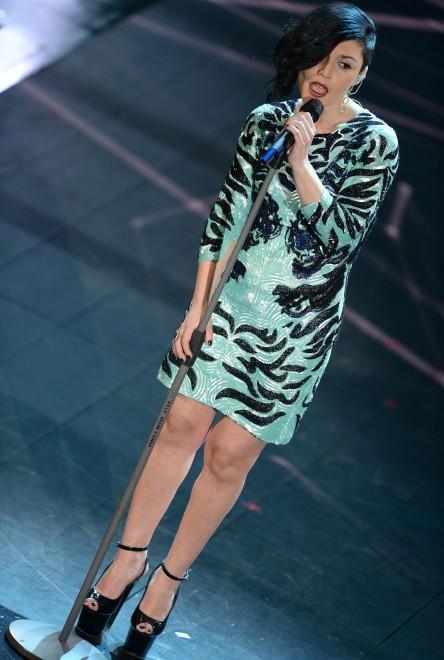 Giusy Ferreri veste Cavalli per la terza serata di Sanremo 2014