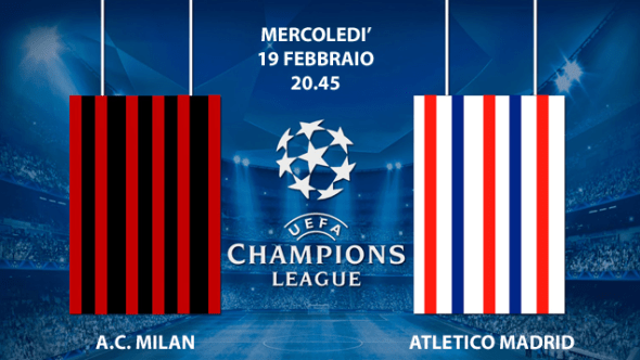 Milan-Atletico Madrid su Canale 5