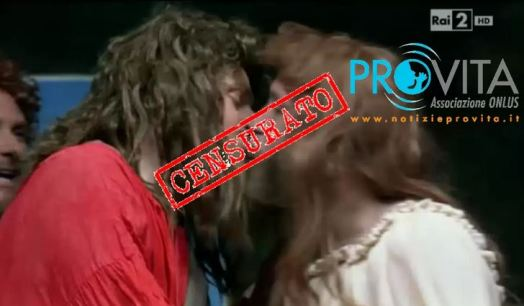 pro vita contro rai 2 per il bacio gay di gesù
