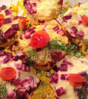 foto la prova del cuoco tortini alla russa con aringa