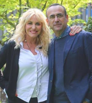 foto Antonella Clerici e Carlo Conti