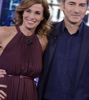 foto Marco Liorni con Cristina Parodi