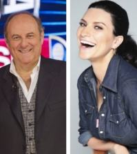Foto Gerry Scotti Laura Pausini
