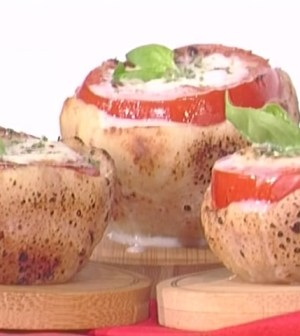 foto pomodori cuore mozzarella