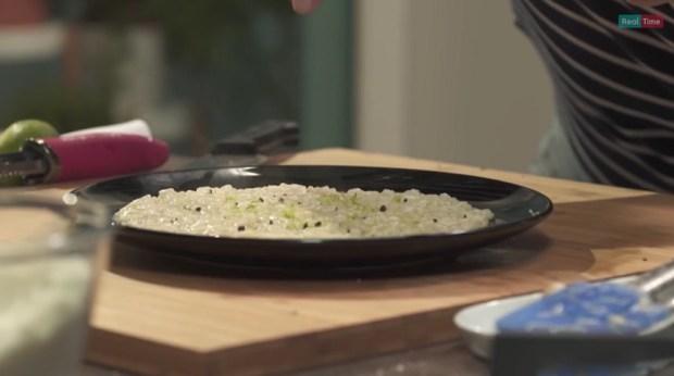 foto risotto cacio pepe lime