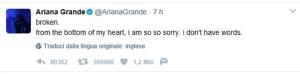 Foto Ariana Grande tweet