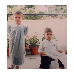 Foto Emma e il fratello Checco
