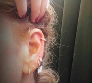 Foto nuovo piercing di Alessia Marcuzzi