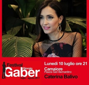 foto Caterina Balivo Festival Gaber