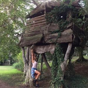 foto Barbara d'Urso casa sull'albero