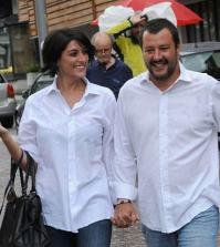 Foto Elisa Isoardi e Matteo Salvini