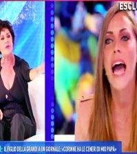 domenica live scontro Corinne Clery Karina cascella