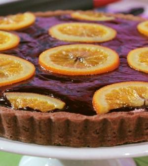 foto crostata cioccolato e arance