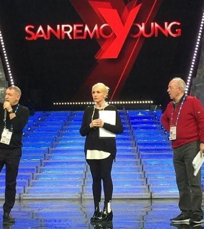 foto Antonella Clerici prove Sanremo Young
