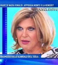 foto nadia Rinaldi contro l'isola dei famosi