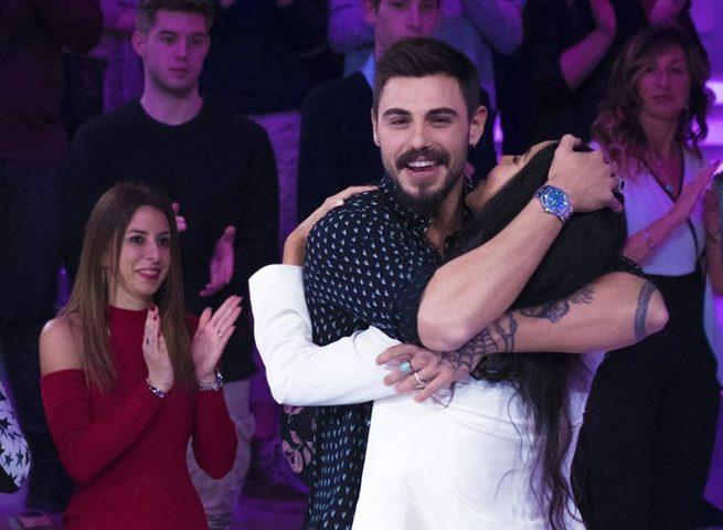Francesco Monte e Paola Di Benedetto a Verissimo. Ospite anche Carlo Cracco