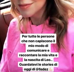 foto instagram story di chiara ferragni