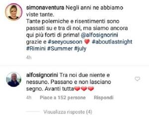 Simona Ventura e Alfonso Signorini hanno fatto pace: le loro