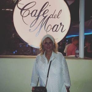 foto Tina Cipollari a Ibiza