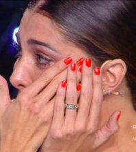 foto belen rodriguez piange tu si que vales gerry scotti