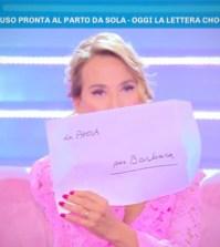 foto lettera paola caruso Barbara D'Urso domenica live