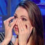 Anna Tatangelo piange a Domenica In: Mara Venier fa un appello a Gigi