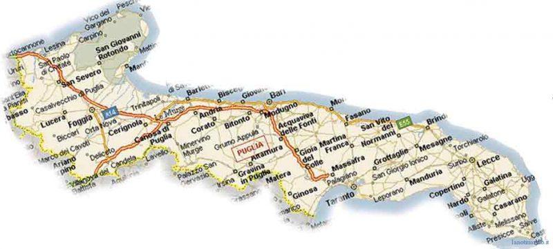 Cartina Puglia Con Province.La Puglia E Le Sue Province Una Storia Iniziata Otto Secoli Fa Lanotiziaweb It