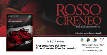 Rosso Cireneo Presentazione Cerignola