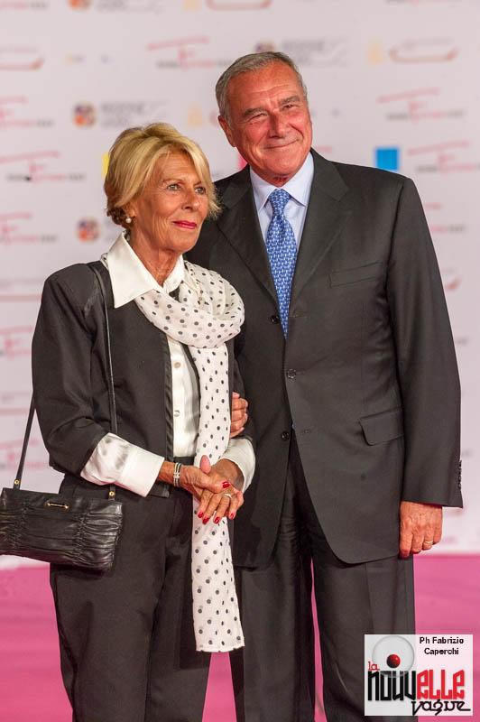 Il Presidente del Senato Pietro Grasso e la signora Maria Fedele