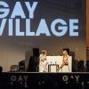 Vladimir Luxuria intervista Virginia Raffaele @ Gayvillage, Roma