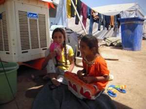 campo sfollati iracheni a Khazar Kurdistan iracheno