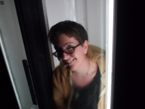 Me sitting in the refrigerator.