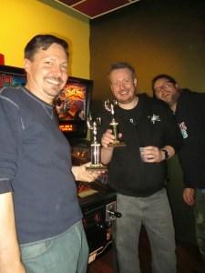 Zen winners Dan and Mike, with photobomb by Matt.