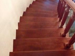 tangga kayu merbau