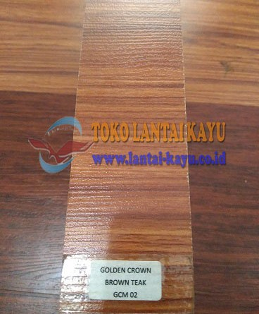 harga Lantai laminated golden crown motif