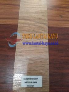 harga Lantai laminated golden crown motif