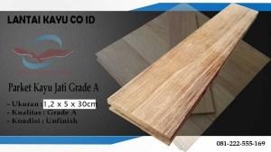 parket lantai kayu Jati Grade A panjang 30 cm