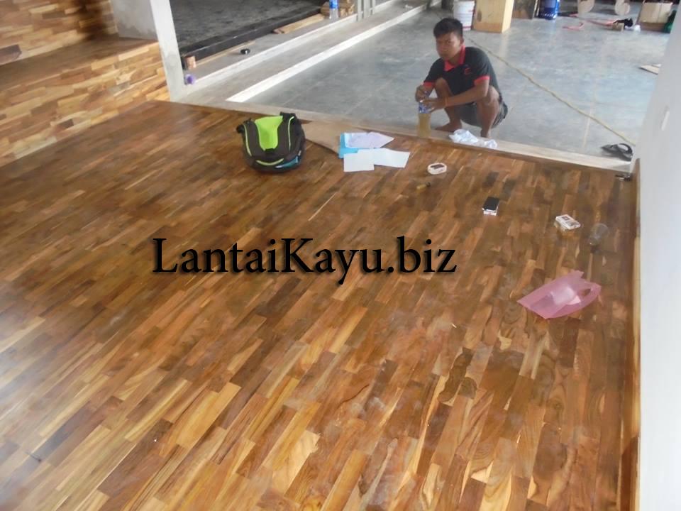 pemasangan lantai kayu jati di denpasar