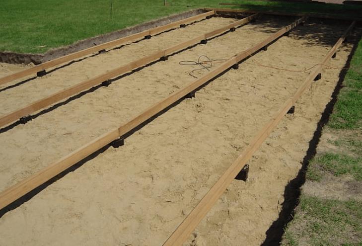 langkah 2 cara memasang decking kayu